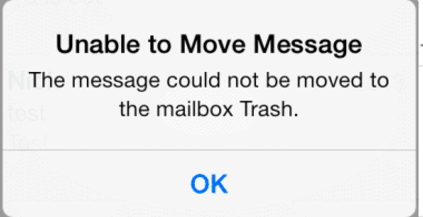 iphone unable to move message to trash