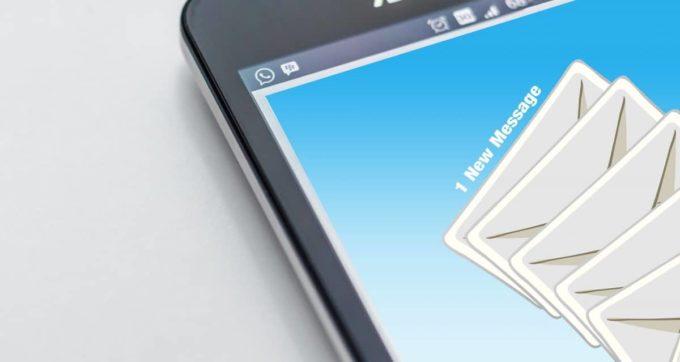 IMAP, SMTP, POP3 Settings on a smartphone