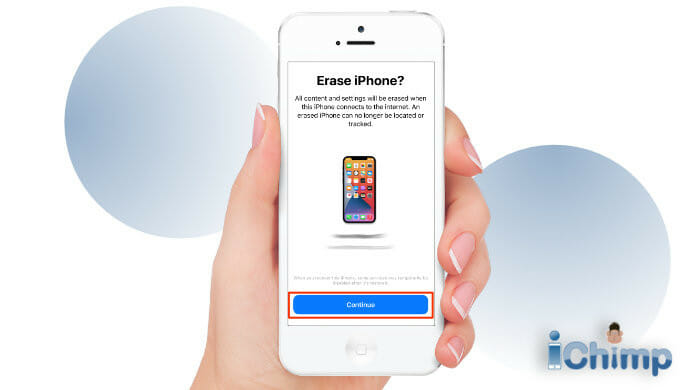 find my app confirm erase