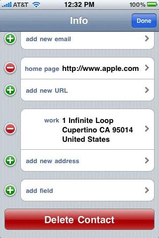 delete contact iOS6