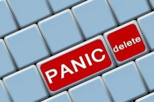 panic delete data