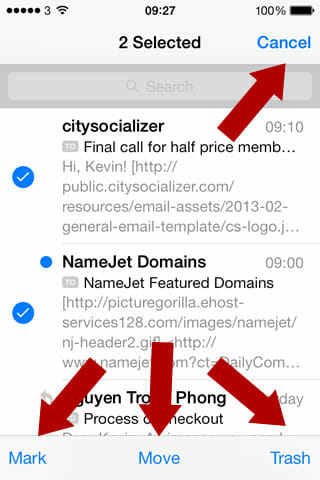 menu options everywhere on iOS 7