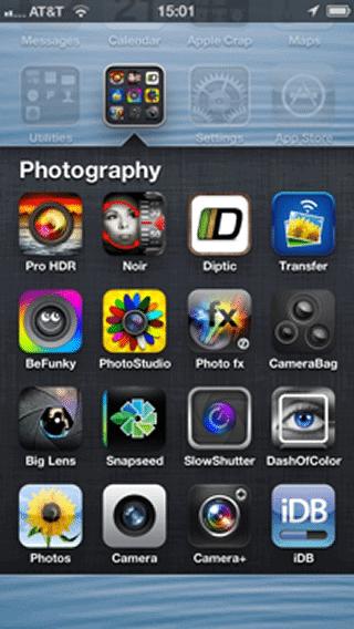 iOS 6 app folder