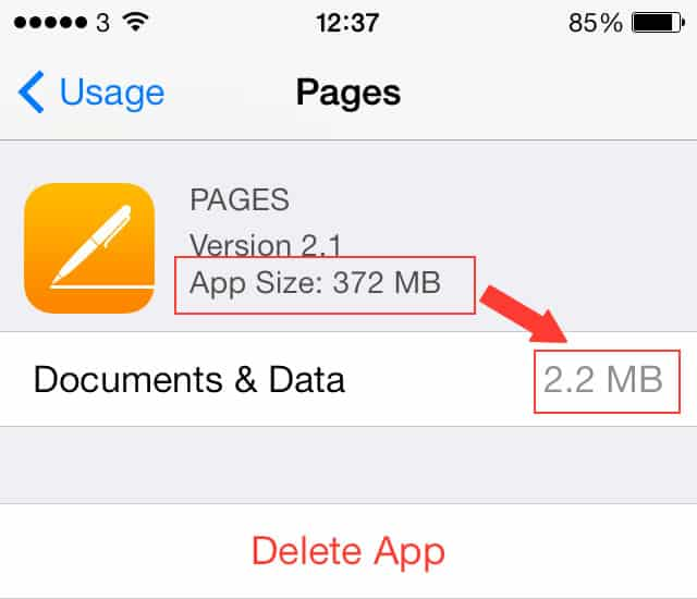 Compare data usage