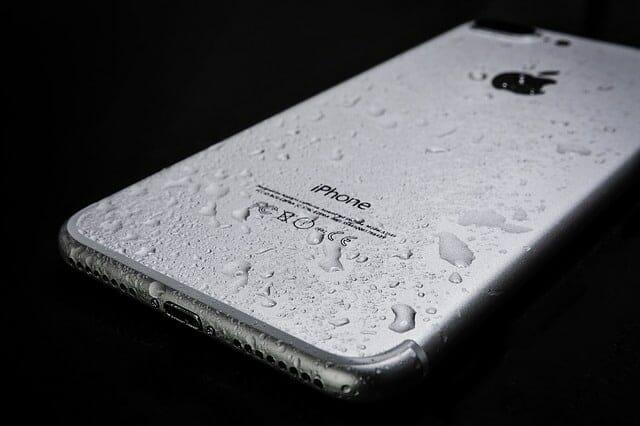 wet smartphone
