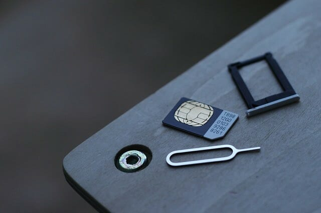 micro SIM on a table