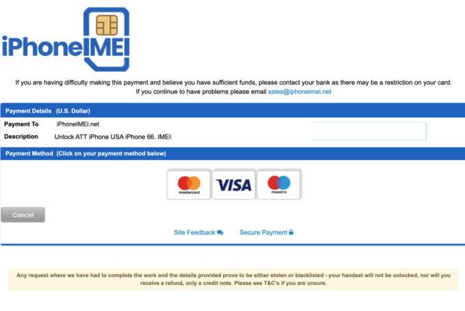 Pay iPhoneIMEI