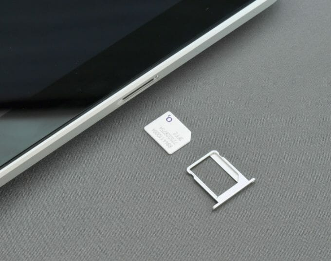 iPhone 6 with SIM card
