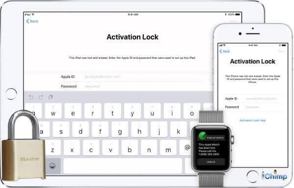 Activation Lock screen on an iPad