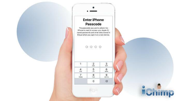 enter iPhone passcode