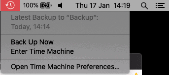 click time machine