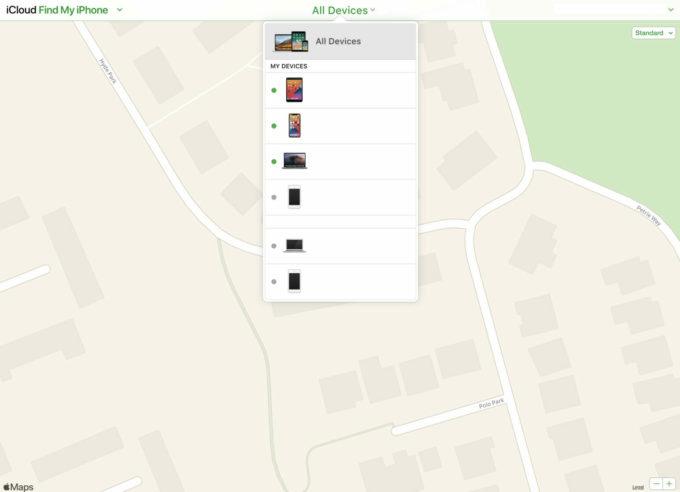 iCloud map
