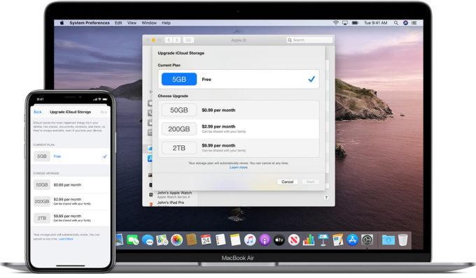 Upgrade iCloud Storage Space