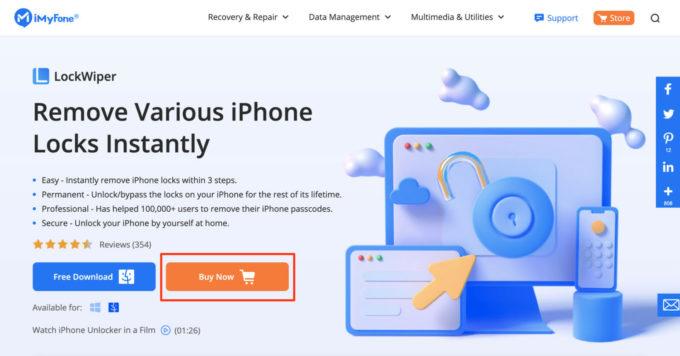 iMyPhone LockWiper step 1