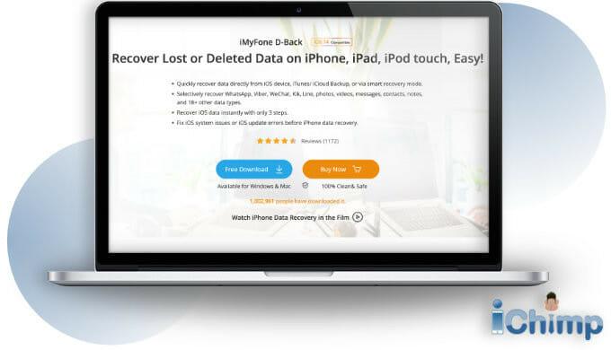 iMyPhone D-Back website