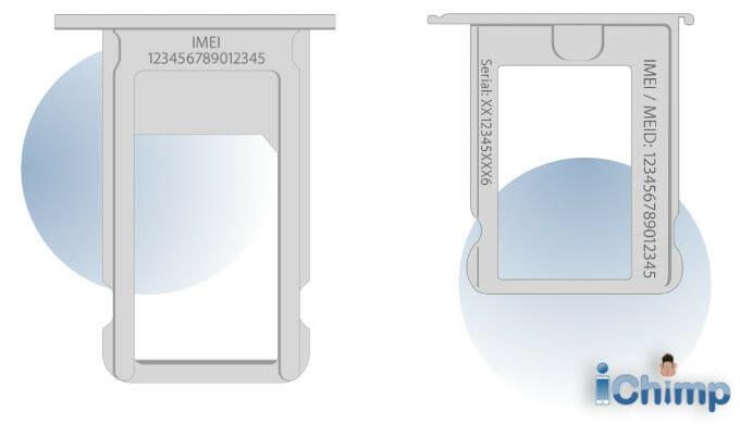 IMEI on SIM tray