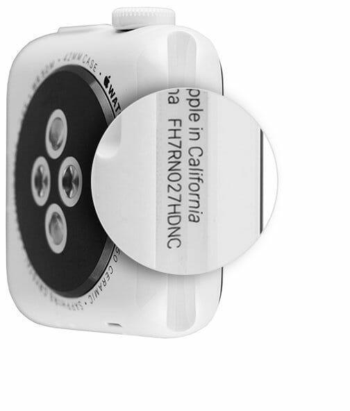 apple watch 2 serial number