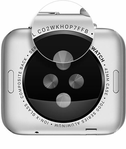 apple watch 1 serial number