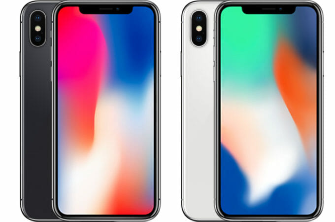 iPhone X with dual cameras