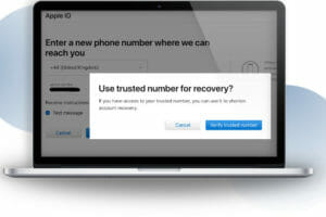 apple id password trusted number recovery