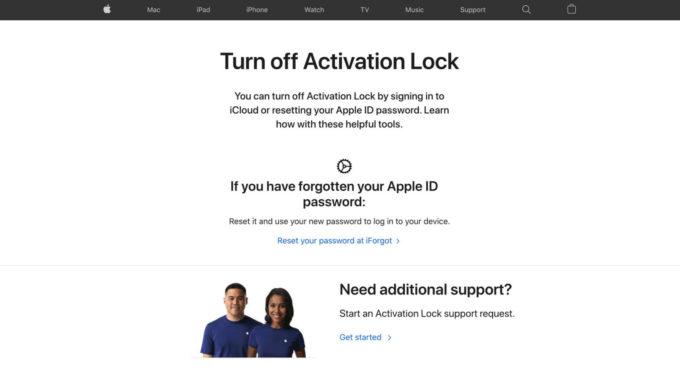 turn off activation lock