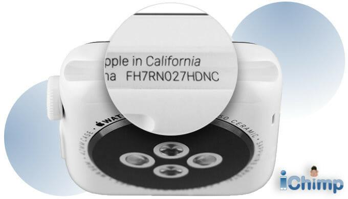 Apple Watch serial number