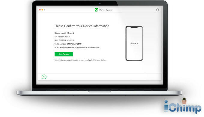 Confirm device's IMEI number , iOS version, IMEI number and more