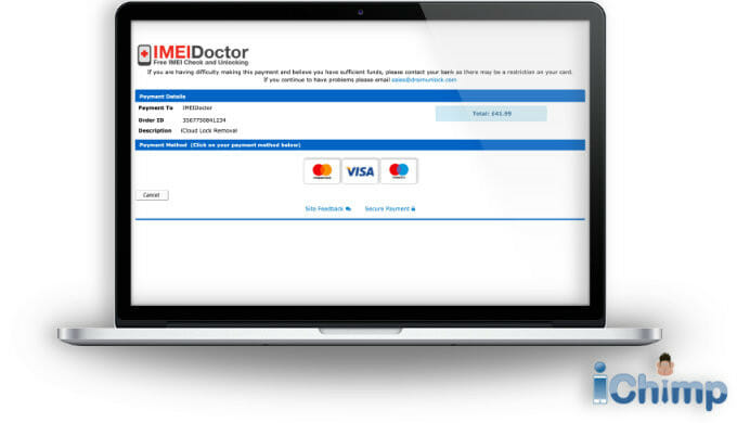 IMEIdoctor purchase page