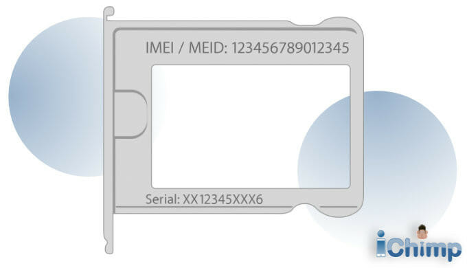 IMEI or MEID code on a SIM card tray to allow Activation Lock removal