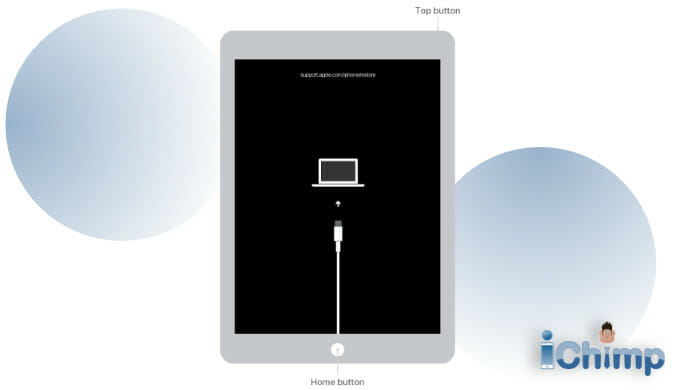 recovery mode on iPad with home button