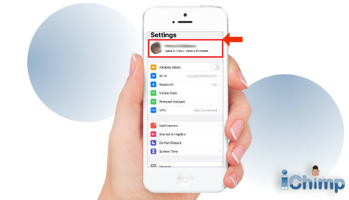 Apple ID settings screen